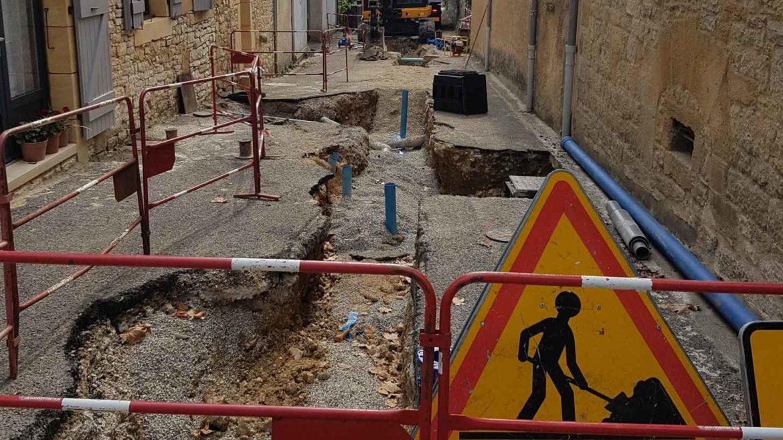 Renouvellement des réseaux d'eau potable à Cazals